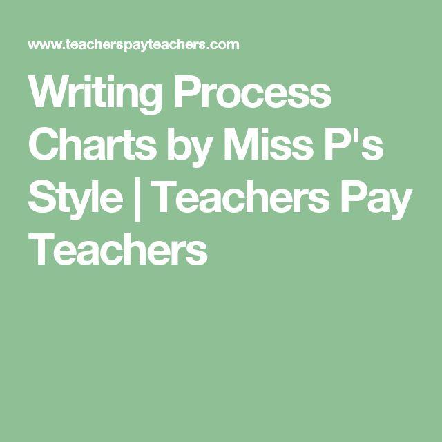 Writing Process Charts by Miss P's Style | Teachers Pay Teachers