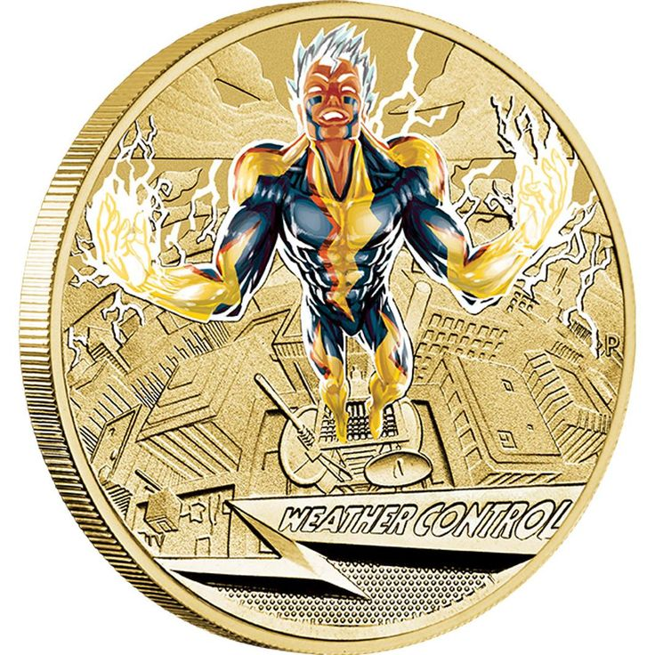 Young Collectors Super Powers – Weather Control 2014 $1 Coin in Card