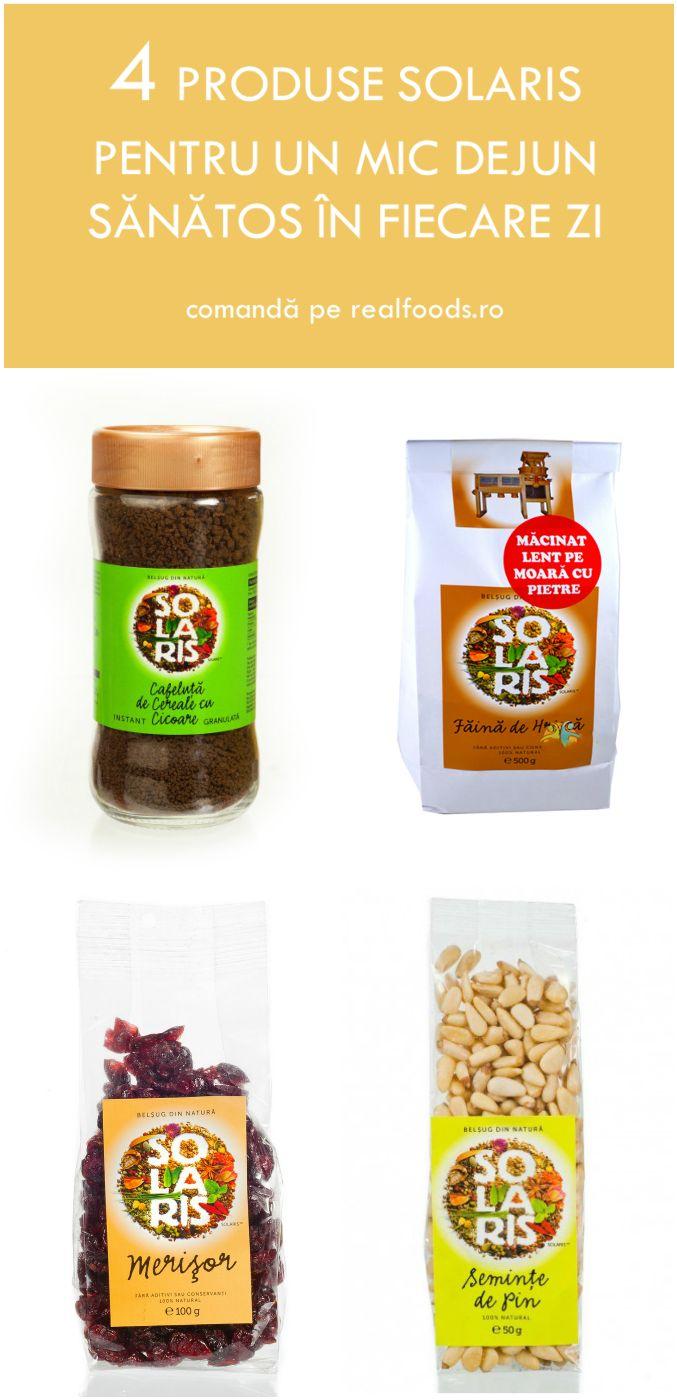Începe-ți dimineața cu o cafea de cereale și cicoare granulată, adaugă în mixul de cereale sau în iaurt merișoarele cu gust dulce-acrișor, rezervă semințele de pin pentru salata de fructe sau prepară clătite delicioase din făina de hrișcă. Descoperă mai multe produse Solaris și inspirația pentru mese gustoase pe http://realfoods.ro/.