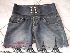 Diy: Low Rise Jeans To High Waisted Shorts