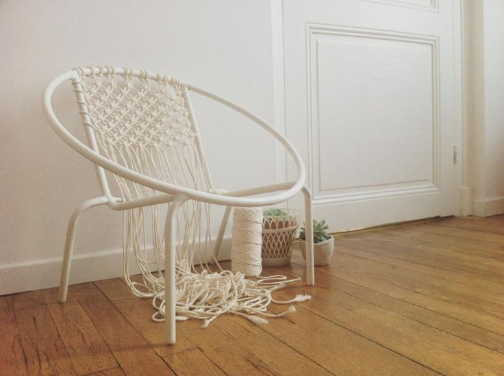 Die besten 17 ideen zu chaise scoubidou auf pinterest - Chaise en fil scoubidou ...