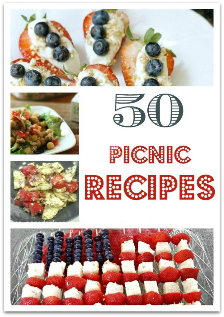 I think I have your party covered for food with these 50 picnic recipes! Whether you're planning a party for Memorial Day, the 4th of July, Labor Day, or just a fun summer gathering, you'll find a bunch of recipes here to make your life easier!