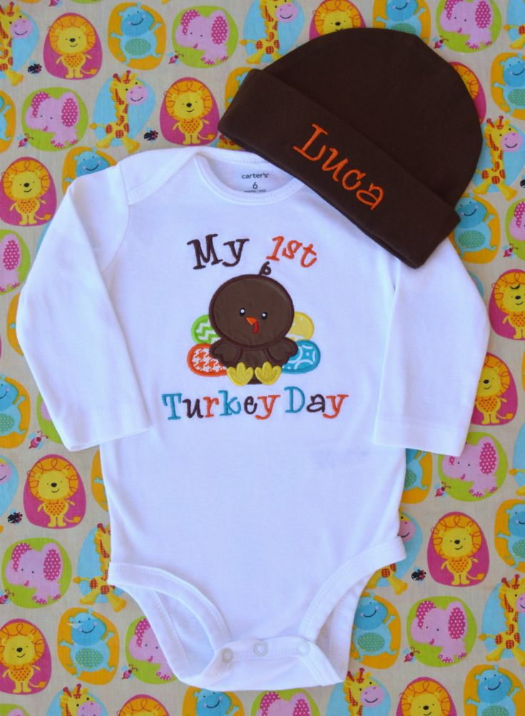 My First Thanksgiving Outfit Baby Boy Thanksgiving Outfit Baby Boy Clothes My First Turkey Day My First Thanksgiving Bodysuit / Gown by juniegrace on Etsy