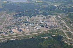 Stockholm Arlanda Airport from above.