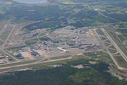 Stockholm Arlanda Airport from above.