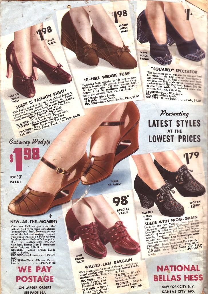 shoe envy. 1940s Sears - what-i-found
