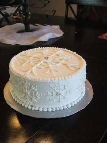 Snowflake Cake By Ishi on CakeCentral.com