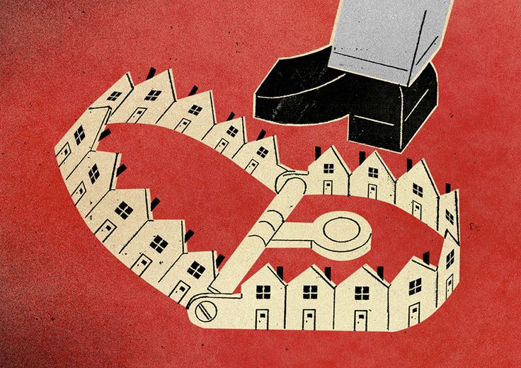 mortgage trap for harvard magazine by dave plunkert of spur design