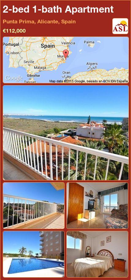 2-bed 1-bath Apartment in Punta Prima, Alicante, Spain ►€112,000 #PropertyForSaleInSpain