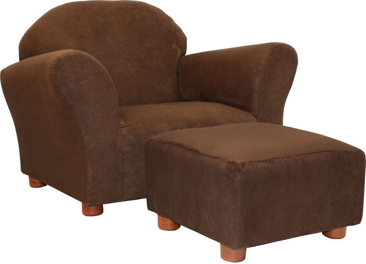 Best Roundy Microsuede Kid S Novelty Chair And Ottoman Set 400 x 300