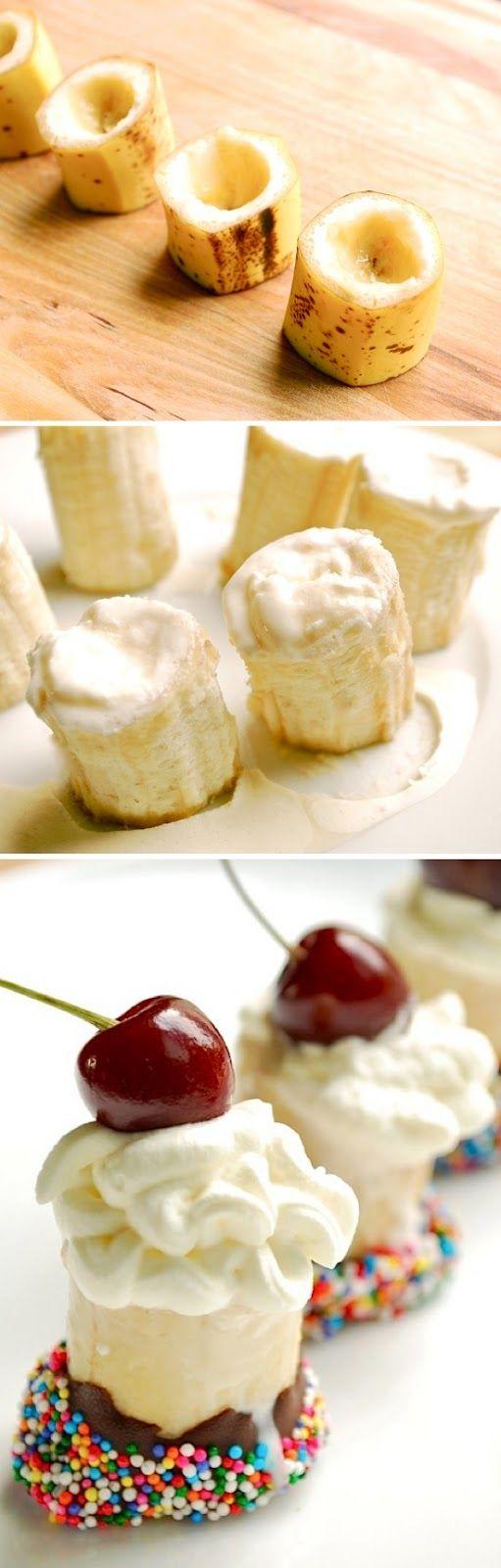 Banana split bites for the #parties #dessert