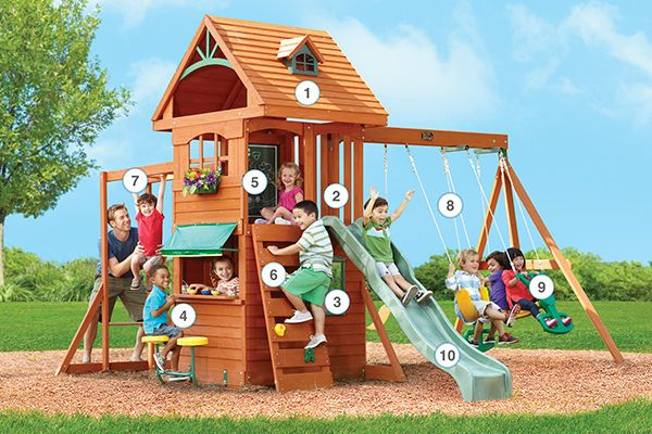 Ridgeview Clubhouse Deluxe - Products | Big Backyard Play Set