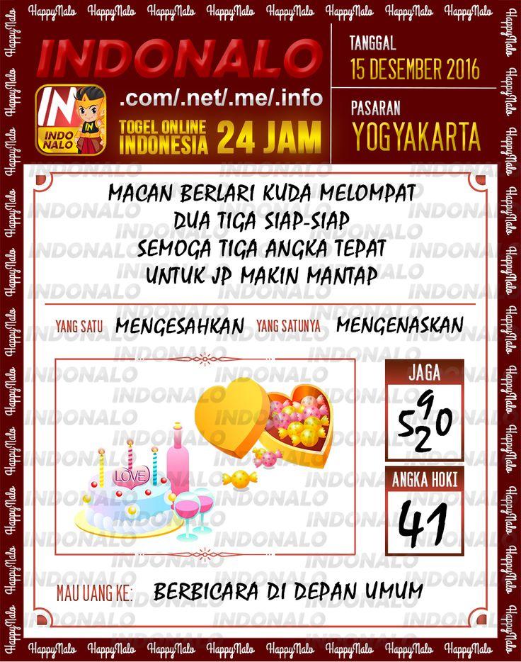 Tafsir Lotre 2D Togel Wap Online Live Draw 4D Indonalo Yogyakarta 15 Desember 2016