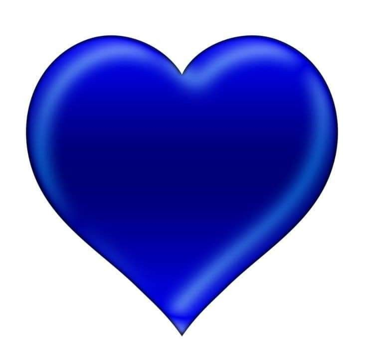 Pin By Ana On Blue Heart Emoji Blue Heart Colorful Heart