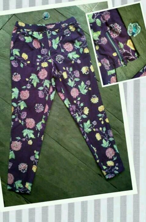 skinny encim pants with zipper