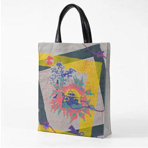 Korean Traditonal Desing Canvas Woman TOTE BAG Shoulder Bag Grey