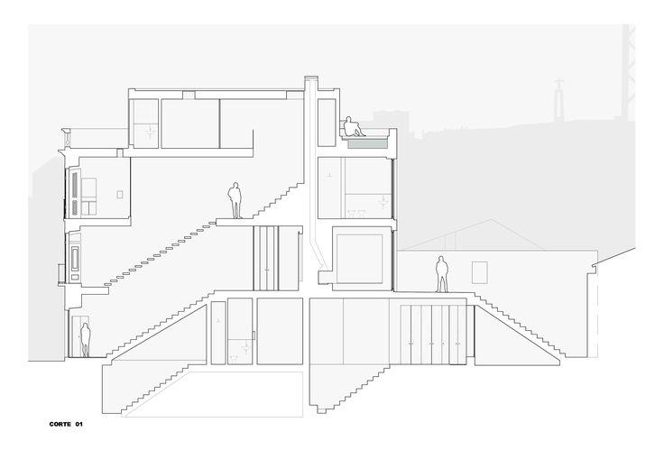 Prazeres House,Section