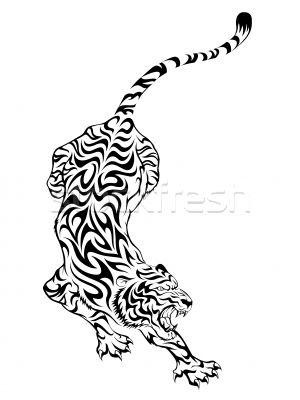chinese tribal tattoo tiger | Tiger Tattoo vector illustration © Fransiskus Xaverius Kushartono ...