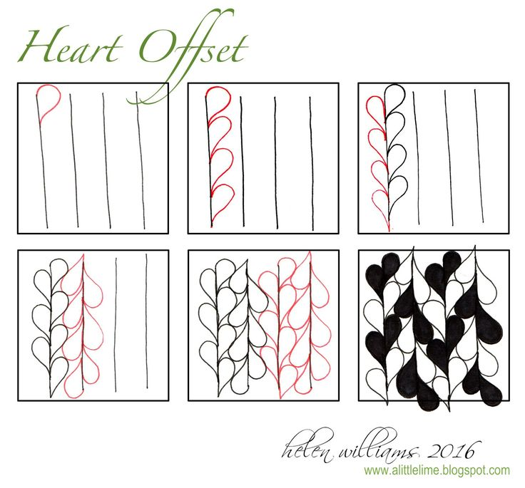 a little lime: Heart Offset PATTERN