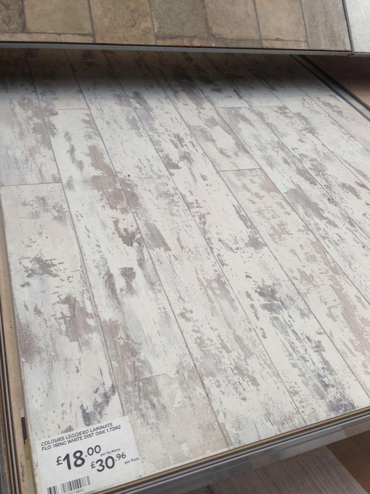 White Distressed Wood Flooring