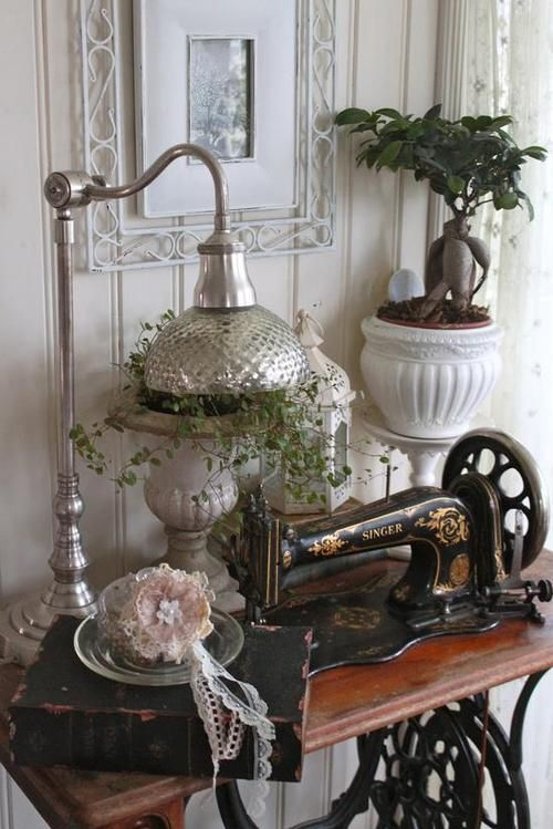 Lovely antique sewing spot!