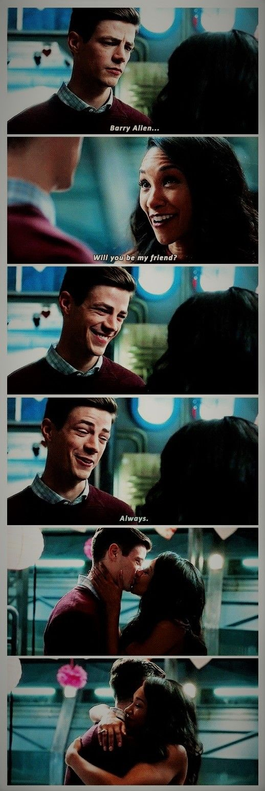 """Man, I love Barry and Iris. <3 My little babies are so grown up now! I'm always in favor of romantic relationships rooted in solid friendship...and when there's as much electricity between the two as there is with this couple...yeah, I'm done for :D 
