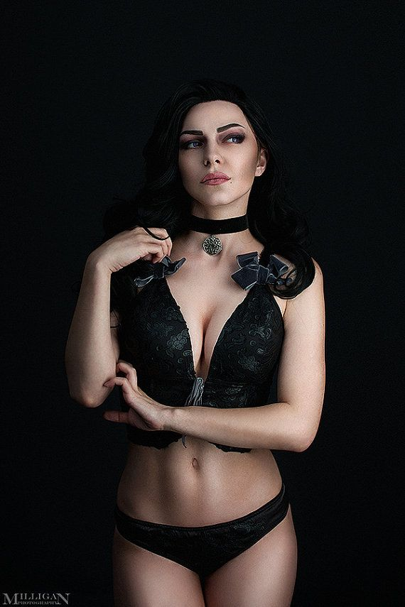The Witcher Wild Hunt Yennefer of Vengerberg gothic lace lingerie underwear cosplay costume accessory game movie Handmade Custom Order