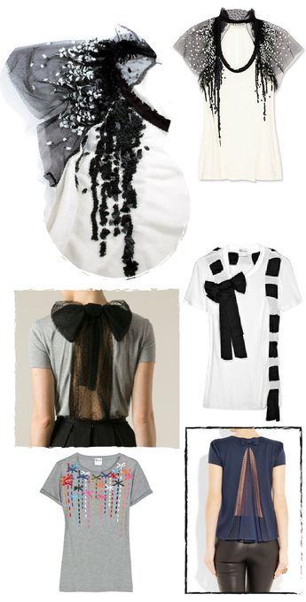 Cómo customizar un vestido camiseta. DIY inspirado en red valentino. Vestido con la espalda abierta y lazo de tul