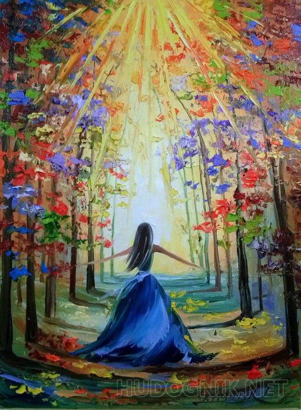 Навстречу солнцу Картина маслом на холсте