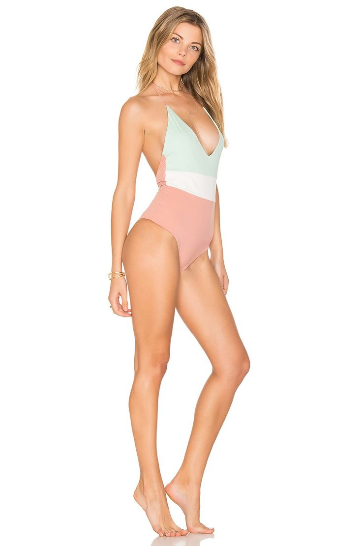 TAVIK Swimwear Chase One Piece in Rose Dawn Color Blocked | REVOLVE