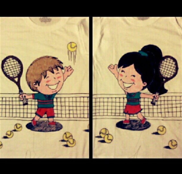 Matching Couples shirts for a Sports-themed Sadie Hawkins Dance!