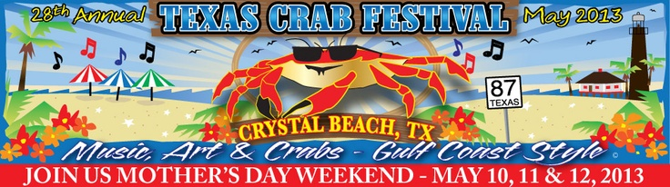 Texas Crab Festival. Tre dages festival med livemusik, børneunderholdning, konkurrencer og masser af mad med krabber. Ikke en del af et netværk. Målgruppe: US, Guldh. Vurdering: 3/5.