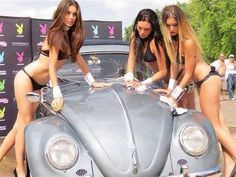 Get off my car  Vw Beetle , Sexy girls with an old vw bug, playboy car wash…