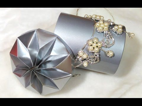 Easy DIY flower in origami style. Star lid for any gift box. Ideas for room decoration - YouTube