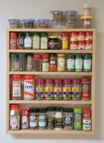 Spice Rack Ideas Pantry Pinterest