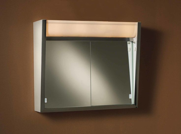 """Ensign 24"""" x 23.5"""" Surface Mount Medicine Cabinet with LED Lighting"""