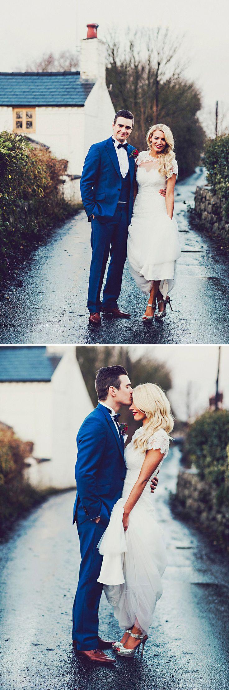 Hollywood Glam Wedding. Shropshire, England Steve Gerrard Portraits Short sleeve wedding dress with ace illusion neckline. #weddingdresssleeves