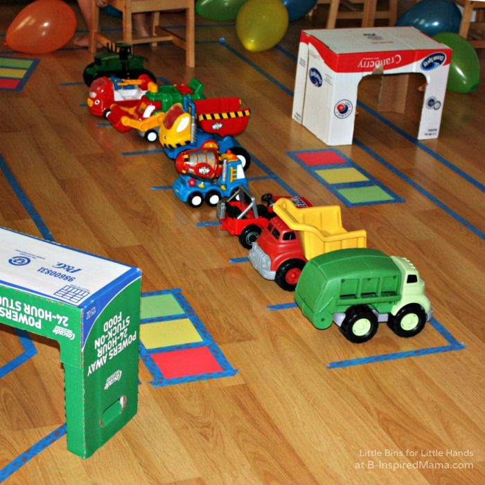 Truck Road & Garage Play + More Affordable Kids Party Activities at B-Inspired Mama