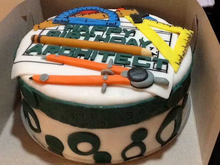 Architect Cake Fondant Cakes Pinterest Cakes And