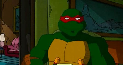 I NEED THIS ON MY BOARD. WATCH IT. LOVE IT. Aww Raph is a animal person