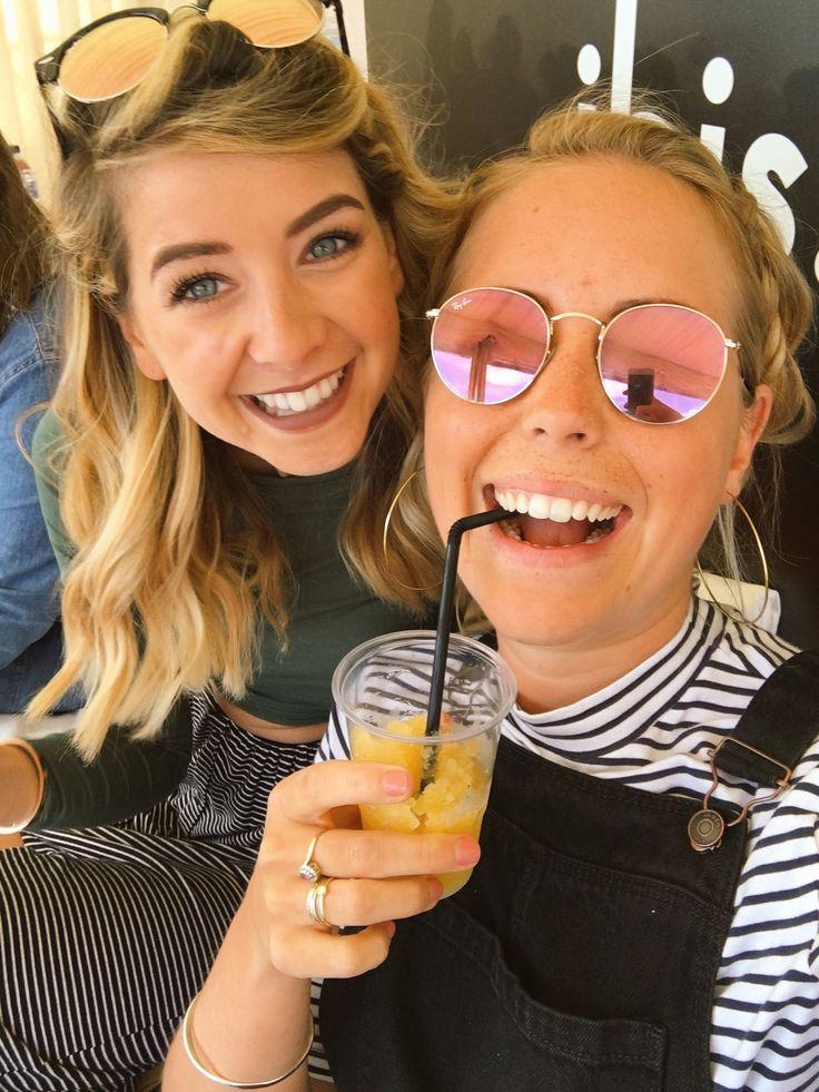 Zoe with Poppy Deyes (sister of Alfie Deyes aka PointlessBlog)