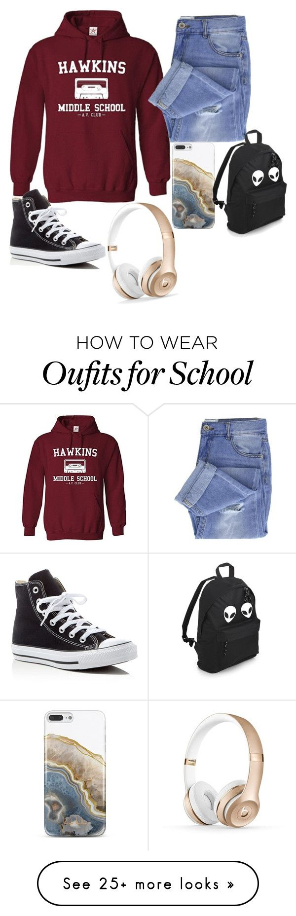 """Untitled #292"" by missymgs on Polyvore featuring Taya, Converse, Nanette Lepore and Hoodies"