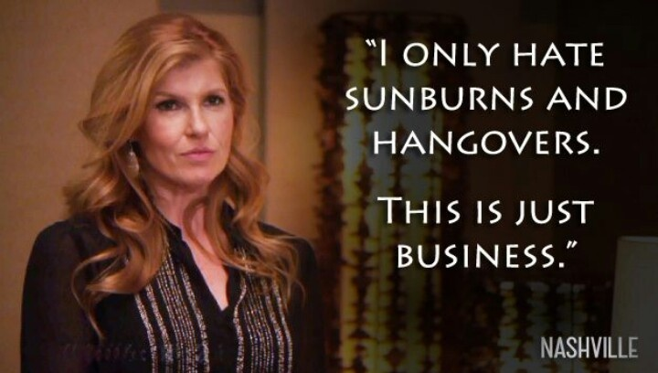 Sunburns and hangovers - Nashville ABC TV show - Raina James