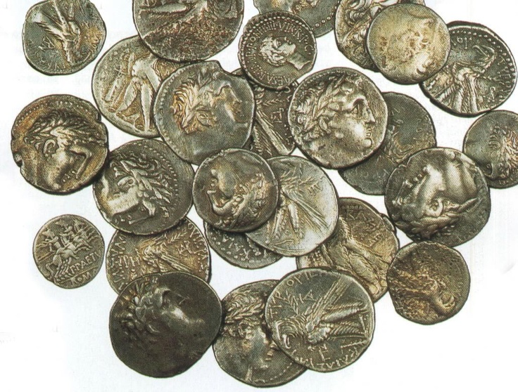 Tyrian shekels were coins of Tyre, which in the Roman Empire took on an unusual role as t the medium of payment for the Temple tax in Jerusalem, and subsequently gained notoriety as a likely mode of payment for Judas Iscariot.  Because Roman coinage was only 80% silver, the purer (94% or more) Tyrian shekels were required to pay the temple tax in Jerusalem. The money changers referenced in the New Testament Gospels (Matt. 21:12) exchanged Tyrian shekels for common Roman currency.