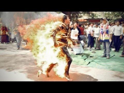 【閲覧注意】 チベット人僧侶の焼身自殺の抗議を報道せよ!