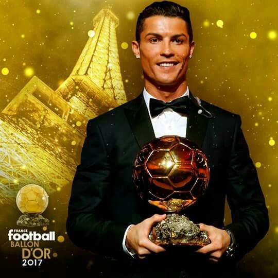 Zlatú loptu 2017 získal Cristiano Ronaldo