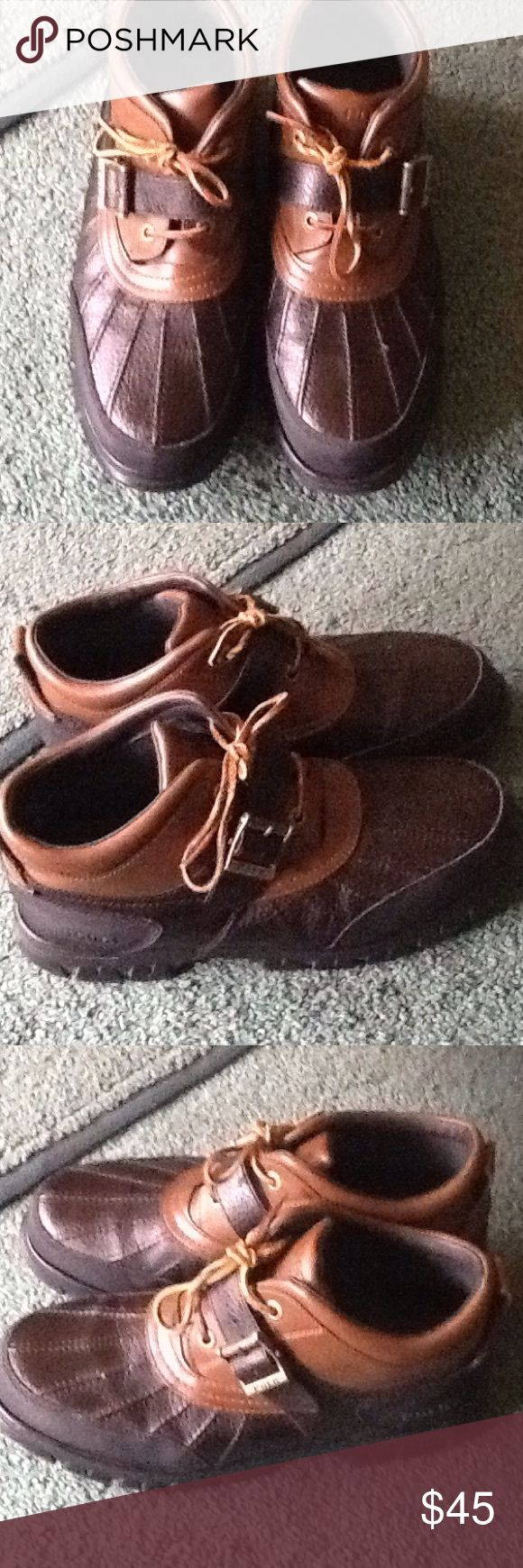 Polo Men ankle boots size 12D Men's POLO ANKLE BOOTS size 12D preowned very good condition Ralph Lauren Shoes Ankle Boots & Booties