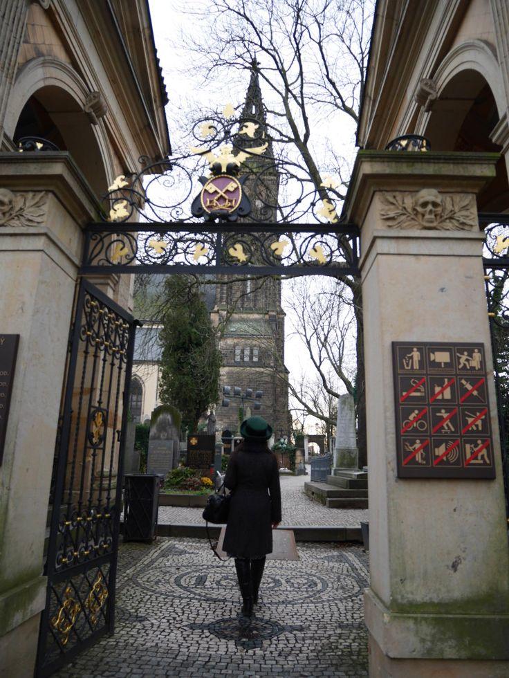The medieval Vishyrad Cemetery, Prague, Czech Republic
