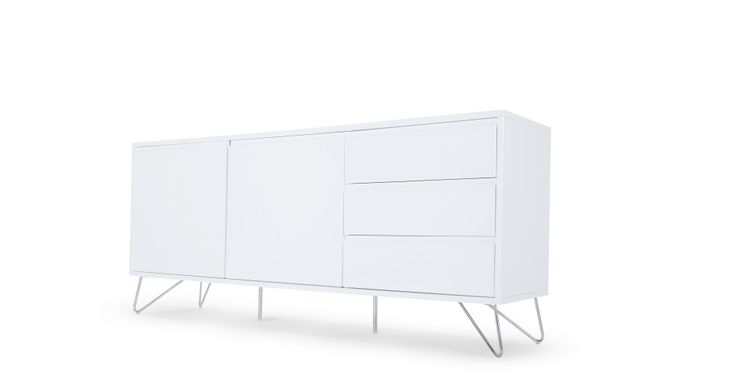 Elona Sideboard, White Gloss | made.com
