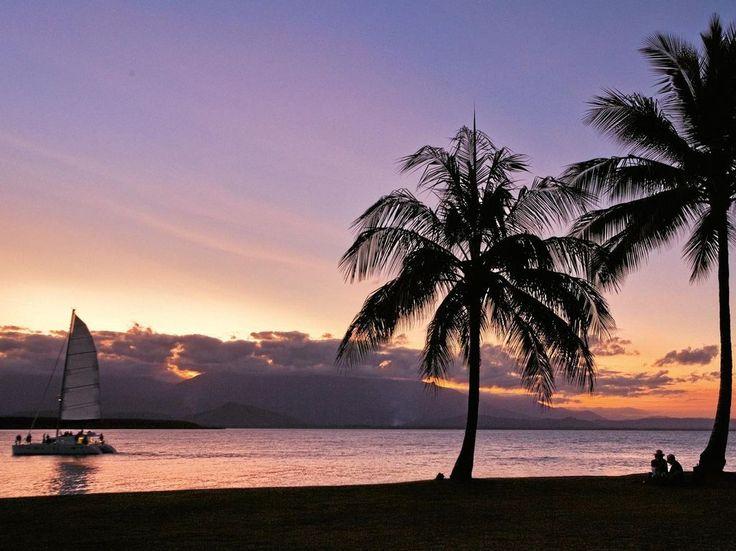Port Douglas marina at sunset.